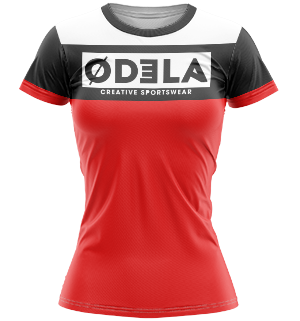 odela maillot femme col rond manches courtes droites