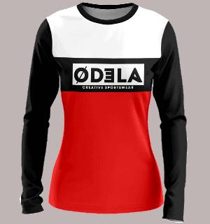 tenues de handball en sublimation odela maillot femme col rond manches longues droites guardien