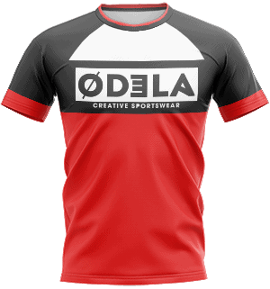 odela maillot homme col rond manches courtes raglans