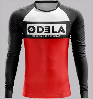 maillot de foot personnalisé en sublimation odela tenue football homme col veron manches longues raglan guardien