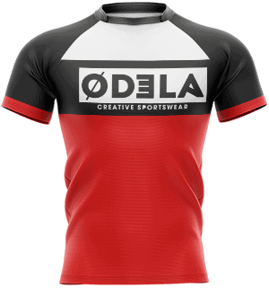 Tenues de rugby en sublimation odela maillot homme moulant col mao manches courtes raglan