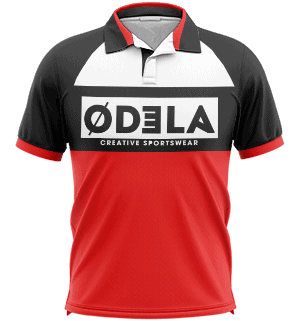 Tenues de sports de boules en sublimation odela polo homme manches raglans
